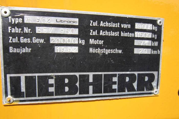 LIEBHERR A 902 LIT 5