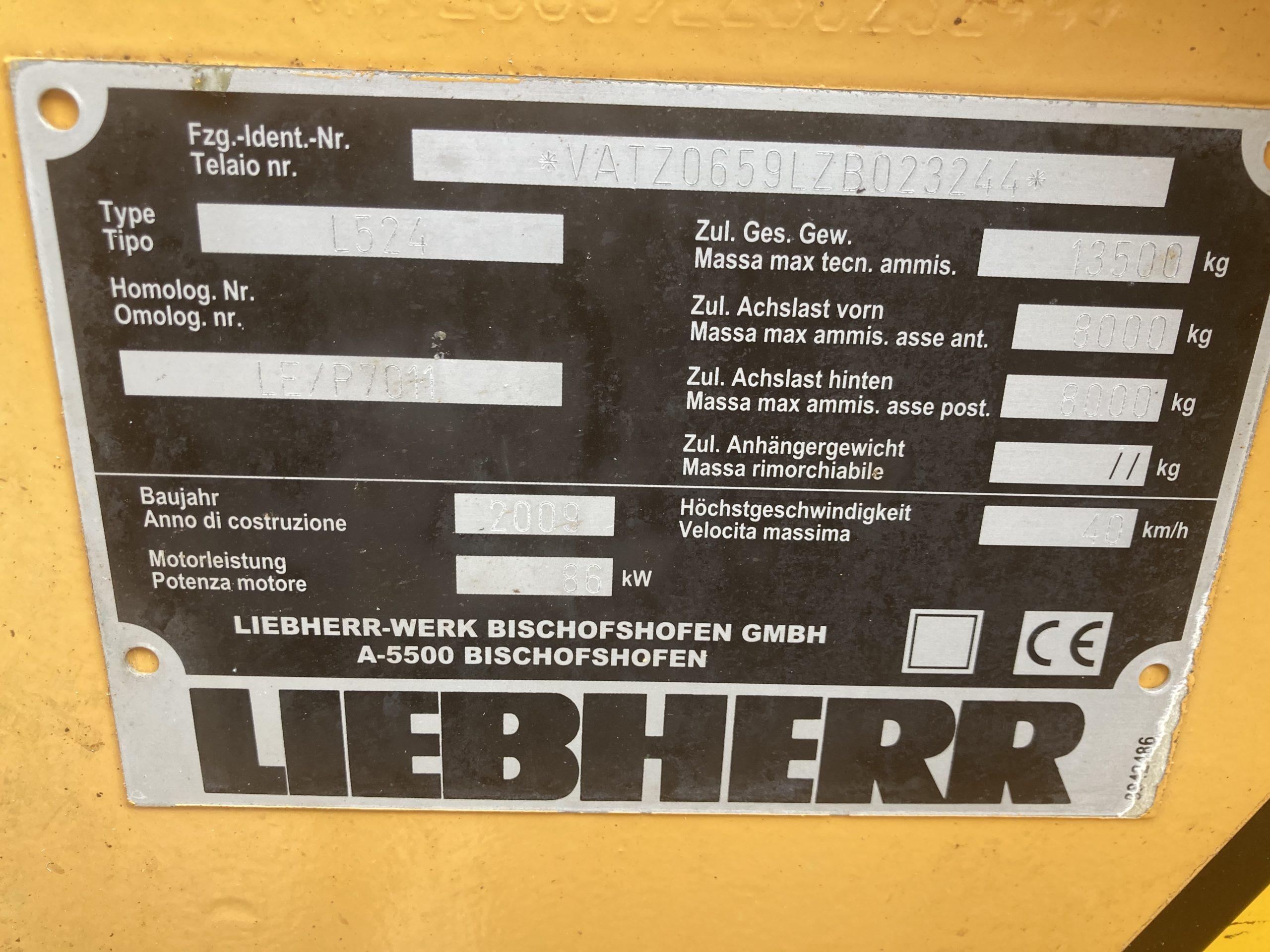 L524 Pala gommata Liebherr